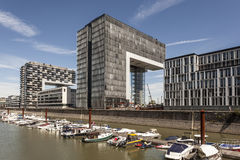 Crane Houses à Cologne, Allemagne Photographie stock libre de droits
