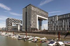 Crane Houses in Colonia, Germania Fotografia Stock Libera da Diritti