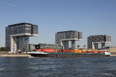 Crane Houses in Colonia, Germania Immagini Stock Libere da Diritti
