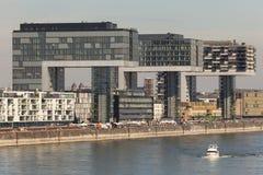 Crane Houses i Cologne, Tyskland Arkivfoto
