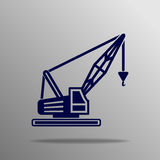Crane Icon Imagen de archivo libre de regalías