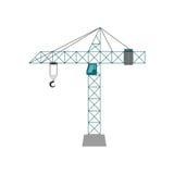 Crane Icon Concept en construction Dessin de vecteur Photos stock