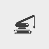 Crane icon in a flat design in black color. Vector illustration eps10 Royalty Free Stock Image