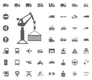 Crane icon. Transport and Logistics set icons. Transportation set icons.  Royalty Free Stock Photos