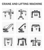 Crane Icons Sets Stock Photos
