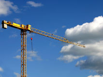 Crane II. Crane in the background of sky Royalty Free Stock Photography