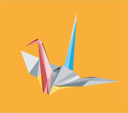 Crane illustration with triangles. Colored crane illustration with triangles Royalty Free Stock Photos