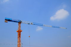 Crane. Industy crane for building with sky background stock photography