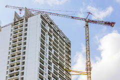 Crane jib above building Stock Photography