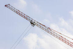 Crane jib and sheave Royalty Free Stock Photo
