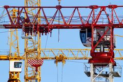 Crane jibs Royalty Free Stock Image