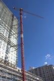 Crane - job almost done. Crane at construction site Stock Photos