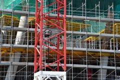 crane konstrukcji budynku Obraz Stock