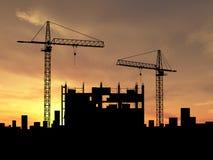 Crane la construcción Imagenes de archivo