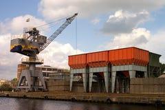 Crane landscape royalty free stock photos