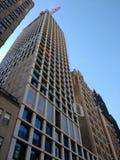 Crane Lifting Building Material, Bau, Crane Operation, Manhattan, NYC, NY, USA Lizenzfreies Stockbild