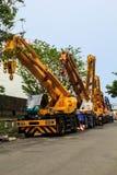 Crane lifting Royalty Free Stock Images