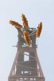 Crane with lifting hooks royalty free stock photo