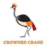 Crane Line Art Icon couronné Image libre de droits