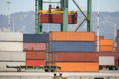 Crane Loading Cargo Royalty Free Stock Photography
