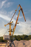 Crane loading cargo in the port Royalty Free Stock Photography