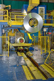 Crane loading Coil steel in Steel plant Stock Photography