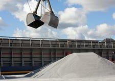 Crane loading gravel Stock Photos