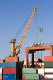 Crane Loading Ship Stock Photography