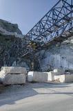 Crane in marble quarry at Carrara Stock Photos