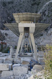 Crane in marble quarry in Italy Stock Photography