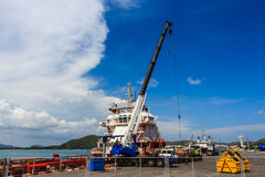 Crane maritime transport Stock Images