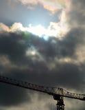 Crane in a menacing sky Royalty Free Stock Image