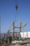 Crane and metal structures Stock Photos