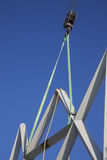 Crane and metal structures. Crane and a metal structure Stock Photography