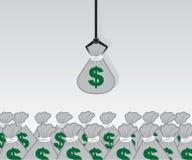 Crane Money Bags Stock Photography