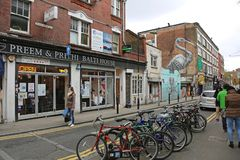 Crane Mural London fotografie stock