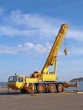 Crane near the sea Stock Photography