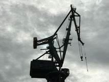 Crane in Nowy Port. Gdansk Poland Stock Photography