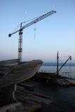 The crane in Omis, Croatia Stock Photo