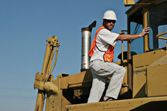 Crane operator Royalty Free Stock Images