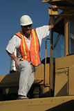 Crane operator. Construction worker at work Stock Photography