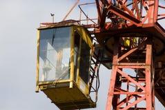 Crane operator cab Royalty Free Stock Photo