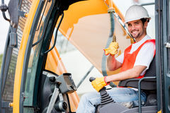Crane operator Royalty Free Stock Photography