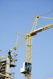Crane operator with remote control Stock Photography