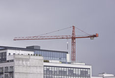 Crane over the building Royalty Free Stock Photography