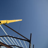 Crane over building site stock photography