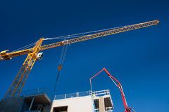 Crane over construction site Royalty Free Stock Photography