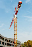 Crane over construction site Stock Image