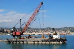 Crane and platform Royalty Free Stock Image
