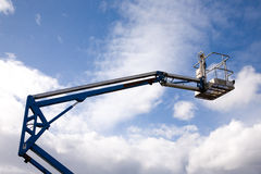 Crane Platform. A close up on an industrial elevated crane platform Royalty Free Stock Image